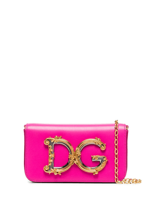 Dolce & Gabbana pink DG Girls small leather cross body bag