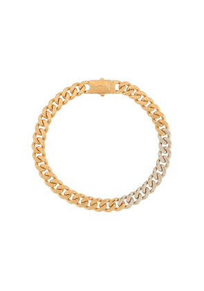 Saint Laurent gold and silver curb chain necklace