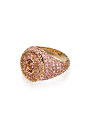O Thongthai 9kt yellow gold, sapphire and tourmaline ring