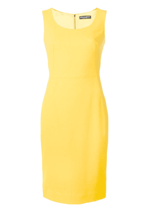 Dolce & Gabbana fitted pencil dress - Yellow
