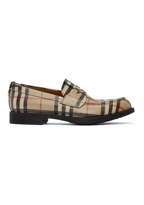 Burberry Beige Vintage Check Loafers
