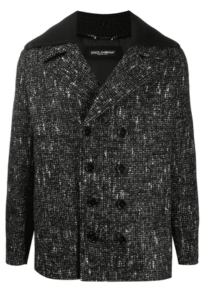 Dolce & Gabbana Fantasia check wool coat - Black