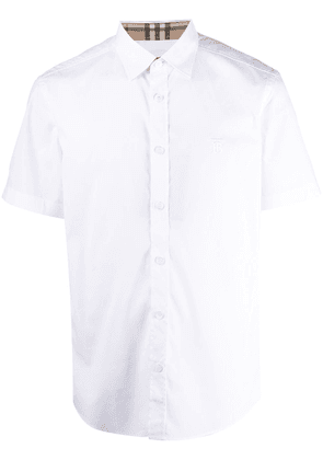 Burberry embroidered TB short-sleeve shirt - White