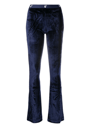 Off-White velour flared trousers - Blue