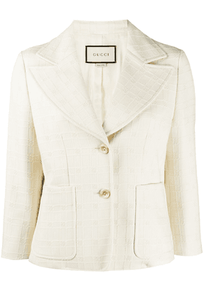 Gucci short blazer jacket - White
