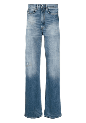 Acne Studios distressed straight-leg jeans - Blue