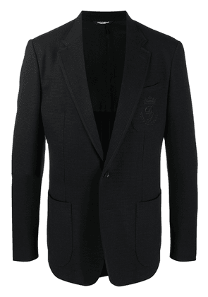 Dolce & Gabbana logo-embroidered jacket - Black