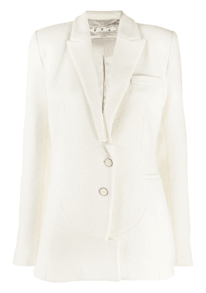Off-White fitted single-breasted blazer - Neutrals