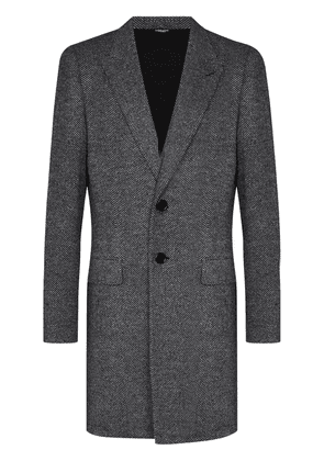 Dolce & Gabbana single-breasted tailored coat - Grey