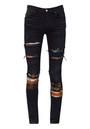 15cm Patchwork Cotton Denim Jeans