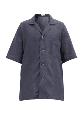 Emma Willis - Oversized Linen-poplin Shirt - Mens - Dark Grey