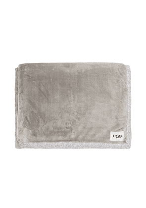 UGG Duffield Throw Blanket in Grey.