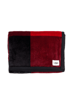 UGG Duffield Throw Blanket in Red.