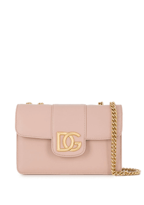 Dolce & Gabbana DG plaque crossbody bag - Neutrals