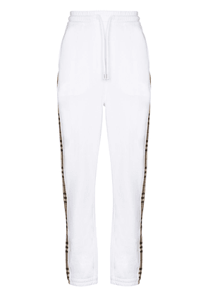 Burberry Vintage check stripe track trousers - White