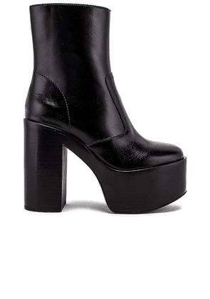 Jeffrey Campbell Mexique Big Platform Ankle Boot in Black. Size 8,8.5,9.