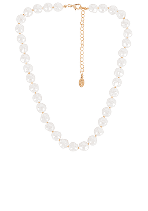 8 Other Reasons Cha Necklace in Metallic Gold.
