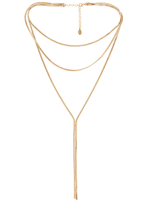8 Other Reasons Anjack Necklace in Metallic Gold.