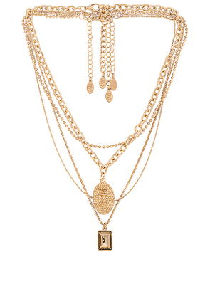 8 Other Reasons Mrs Ross Necklace in Metallic Gold.
