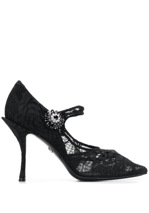 Dolce & Gabbana Mary Jane lace pumps - Black