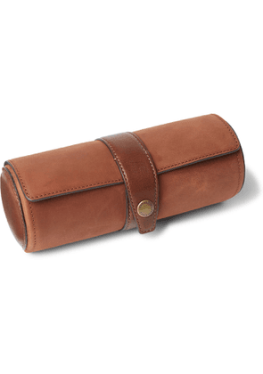 Brunello Cucinelli - Nubuck and Leather Watch Roll - Men - Brown