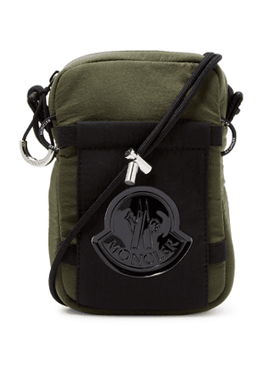 Moncler - Logo-Appliquéd Shell Messenger Bag - Men - Green
