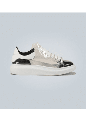 Oversized transparent sneakers