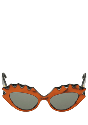 Cat-eye Sculptured Acetate Sunglasses