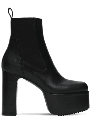 115mm Kiss Leather Ankle Boots