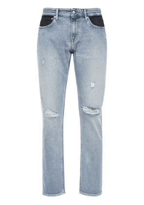 17cm Slim Fit Two Tone Coated Jeans