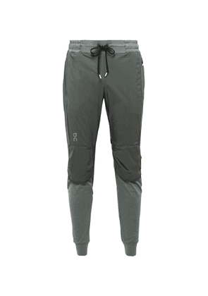 On - Slim-Fit Tapered Ripstop and Tech-Jersey Sweatpants - Men - Gray