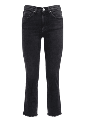 Demar High Waist Straight Leg Jeans