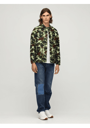 Camo Cotton Canvas Shirt Jacket