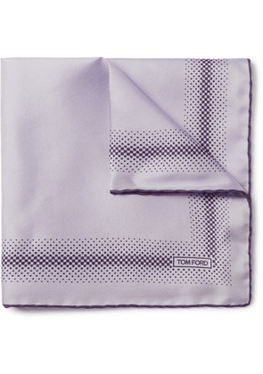 TOM FORD - Printed Silk-Twill Pocket Square - Men - Purple