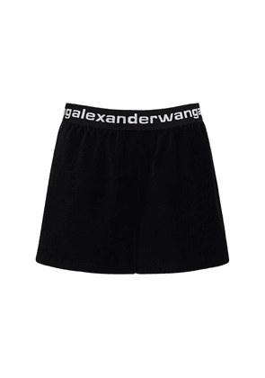 Stretch Corduroy Shorts W/ Logo