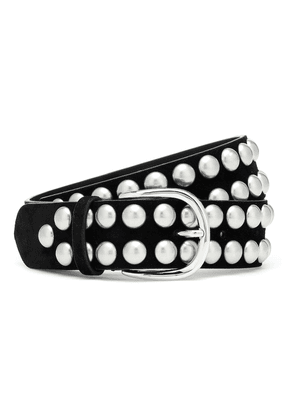 Zap studded suede belt
