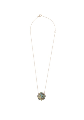 Noor Fares - Madhya Sapphire, Abalone & Gold Necklace - Womens - Blue