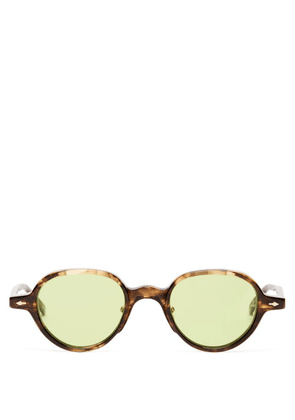 Jacques Marie Mage - Clark Round Marbled-acetate Sunglasses - Mens - Tortoiseshell