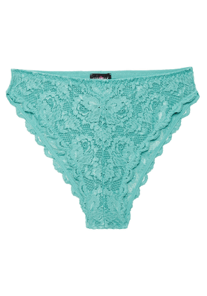 Cosabella Never Say Never Stretch-lace High-rise Briefs Woman Sky blue Size S