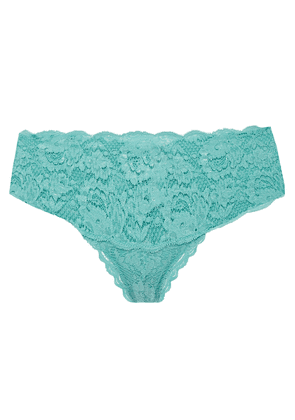Cosabella Stretch-leavers Lace Mid-rise Briefs Woman Sky blue Size S/M