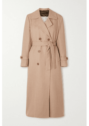 Giuliva Heritage - The Christie Belted Double-breasted Wool-gabardine Trench Coat - Sand