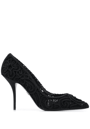 Dolce & Gabbana embroidered heart motifs pumps - Black