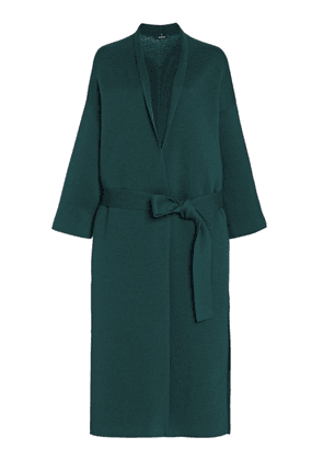 Akris Belted Wool-Silk Wrap Coat