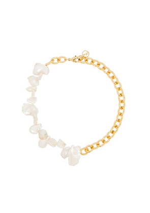 Anissa Kermiche Two Faced Shelley pearl anklet - GOLD
