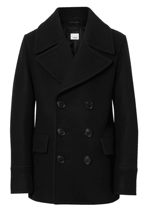 Burberry Wool Blend Pea Coat - Black