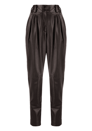 Dolce & Gabbana high-waist tapered trousers - Brown