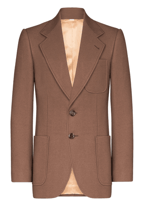 Gucci single-breasted wool blazer - Brown