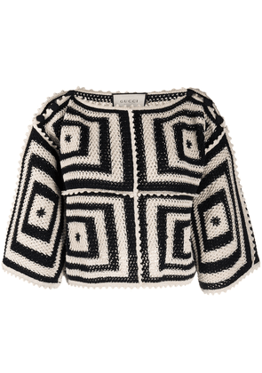 Gucci geometric knitted top - Neutrals