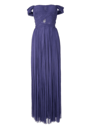 Dolce & Gabbana ruched evening gown - PURPLE