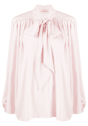 Alexandre Vauthier pussy-bow loose-fit shirt - PINK